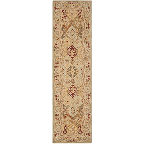 Safavieh Anatolia Collection AN530A Handmade Traditional Oriental Beige and Multi Wool Runner (2'3