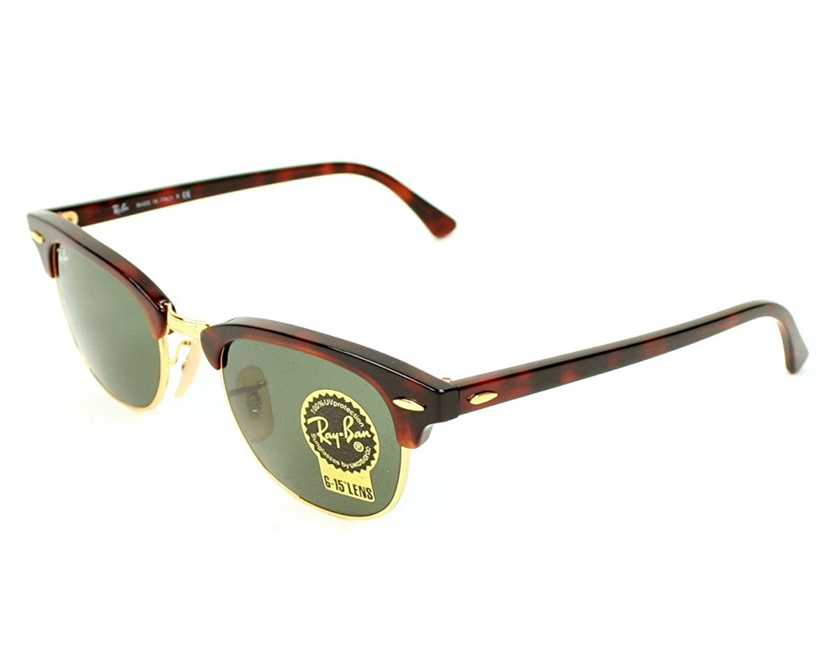 4b4d3e98b8 Amazon.com  Ray Ban Sunglasses RB 2156 New Clubmaster RB2156 990 Metal -  Acetate Brown Grey Green  Shoes