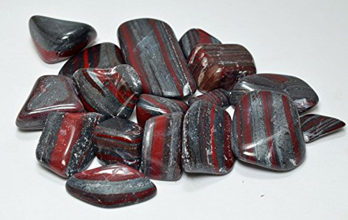 Rumineral Jaspilite Red Jasper Quartz Hematite Tiger Iron Metaphysical Healing Palm Stones 0.77 lbs Ukraine
