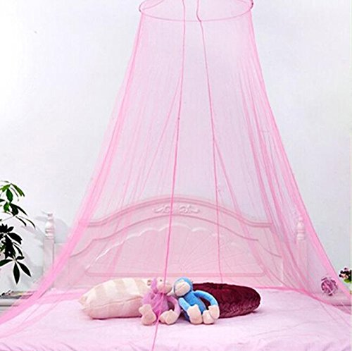 Edtoy Princess Round Dome Lace Mosquito Netting Mesh Canopy Net For Kids Bedroom (Blue)