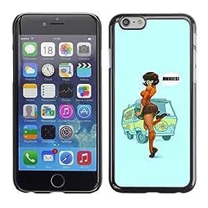 Caucho caso de Shell duro de la cubierta de accesorios de protección BY RAYDREAMMM - Apple iPhone 6 Plus 5.5 - Up Redhead Girl Woman Poster