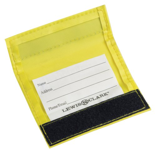 Wrap Luggage Tag (Lewis N. Clark 3-Pack Luggage ID Handle Wrap, Yellow, One Size)
