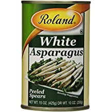 Roland Foods White Asparagus, Peeled Spears, 15 Ounce (Pack of 3)