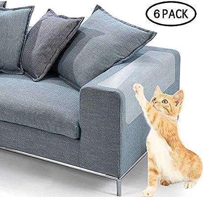 eFUture - Juego de Protectores de sofá de plástico Transparente Gatos, protección contra arañazos, Muebles, Mesa Repelente de Muebles (47 cm x 15 cm)