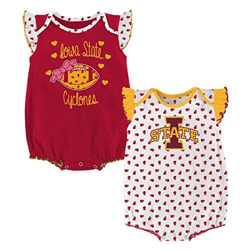 NCAA Iowa State Cyclones Newborn & Infant Heart Fan 2pc Bodysuit Set, Multi, 18 Months