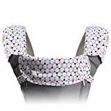Bebamour Organic Cotton Baby Drool and Teething Pad Fits Most Baby Carriers Perfect for Infant Toddler Boys and Girls 3 Piece Gift Set (Black Triangle)