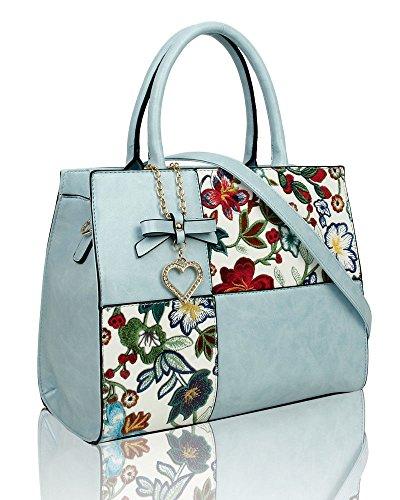 Handbag Light Fur Blue Faux Woman Unbranded pwaxZzda