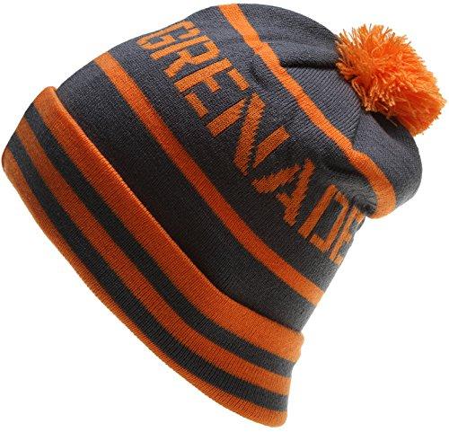 Grenade Letterhead Beanie Mens Orange ()