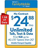 Walmart Family Mobile $24.88 Unlimited Refill Card (Mail Delivery)