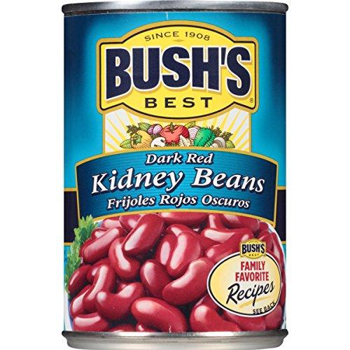 Beans Louisiana Red (Bush's Best Dark Red Kidney Beans, 16 oz)