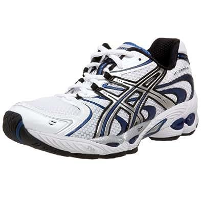 ASICS Men's GEL-Nimbus 11 Running Shoe,White/Lightning/Brilliant Blue,16 D US