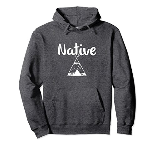 Unisex Native teepee hoodie - American Indian Indigenous Small Dark Heather -