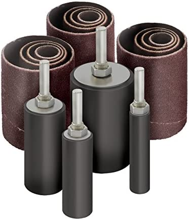 2 inch Long Sanding Drum and Sleeves Set for Drill Pack of 16 LINE10 Tools