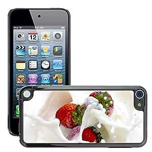 Super Stellar Slim PC Hard Case Cover Skin Armor Shell Protection // M00049671 white aero strawberry // Apple iPod Touch 5 5G 5th