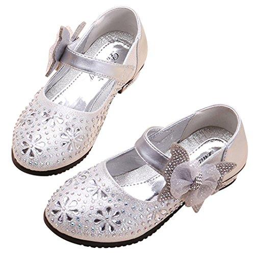 SITAILE Kinder Mädchen Schuhe Prinzessin Königin Gelee Partei Schuhe Gute Qualität Sandalen Neueste Design 02-Silber