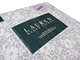 Lauren Ralph Lauren 4 Piece Queen Sheet Set Floral Silhouette Grey Off White Gray French Country