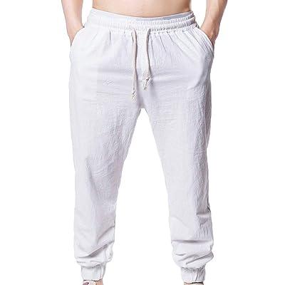 ca954bfe229e3 Battercake Hommes Pantalons Longs Élastiques Pantalon Nnn Pantalon Solide  Décontracté Hommes en Vrac Pantalon Confortable De