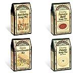 Wildwood Soup Mix Bundle (4 Pack): Creamy Tomato Basil, Creamy Potato, Classic Corn Chowder and Classic Beef Barley