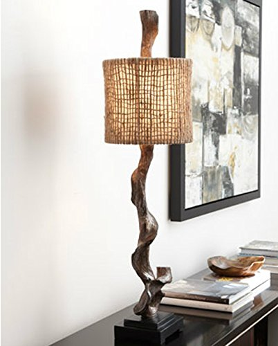 Contemporary designer driftwood design table lamp beach ocean decor by home decor source