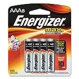MAX Alkaline Batteries, AAA, 8 Batteries/Pack, Sold as 2 Package