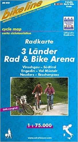 Book Vinschgau-Sudtirol-Engadin 3 Countries Cycle Map GPS: BIKEK3.CH+IT+AT