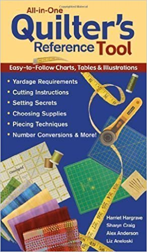 All-in-One Quilter's Reference Tool: Easy-to-Follow Charts, Tables & Illustrations, Yardage Requirements, Cutting Instructions, Setting Secrets, Choosing Supplies, Piecing Techniques, Number Conversions & More! by Harriet Hargrave (Aug 1 2004) RTF