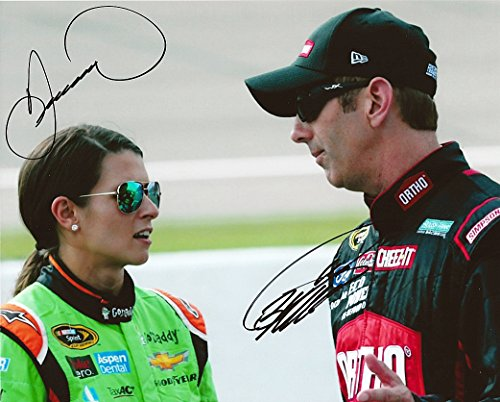 a Patrick & Greg Biffle 2015 GoDaddy/Ortho Racing (Pre-Race Chat) Signed 8X10 Picture NASCAR Glossy Photo with COA ()