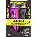 Zulu 20oz High Performance Glass Water Bottles Bpa/bps Lead Free (Purple/Gray-Green)
