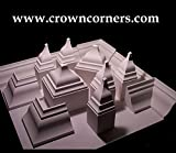 Crown Molding Corner Deco Low Profile Inside Fits 3 - 3 5/8 Inch Crown Molding