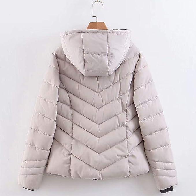 CUTUDE Manteau Femme Hiver Veste Zippée épais Coton Manteau