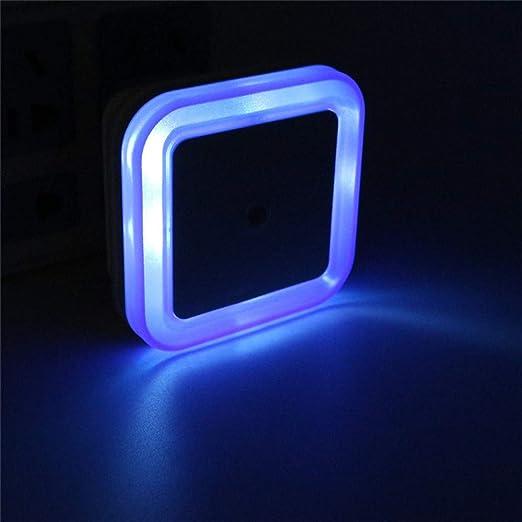 xikaiai Novedad EU Plug Sensor De Luz Led Night Light Baby Lámpara De Noche Lámpara De Noche Sleep Light para Niños Dormitorio Escaleras: Amazon.es: Hogar