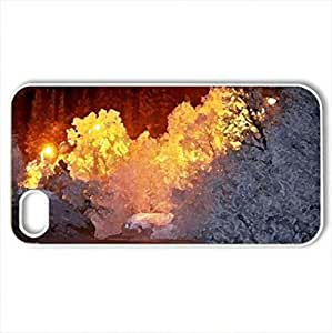 lintao diy AMAZING NATURE - Case Cover for iPhone 4 and 4s (Winter Series, Watercolor style, White)