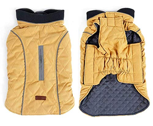 Beloved1314 Dog Cold Weather Vest Reflected Winter Pets Coat Windproof Warm Dog Outfits