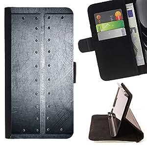 Clavado de aluminio cepillado- Modelo colorido cuero de la carpeta del tirón del caso cubierta piel Holster Funda protecció Para Apple iPhone 5C
