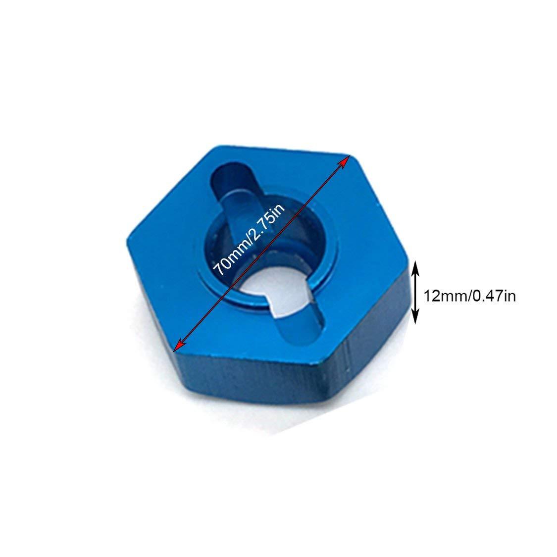 ITFancysweety Accoppiatore per Sedile a Ruota Esagonale Durevole da 12 mm per WLtoy K949 10428-A Accessori per Auto rampicanti a Quattro Ruote per Auto RC