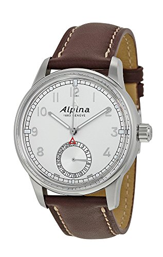 Alpina Alpiner Manufacture Silver Dial Brown Leather Mens Watch AL-710S4E6