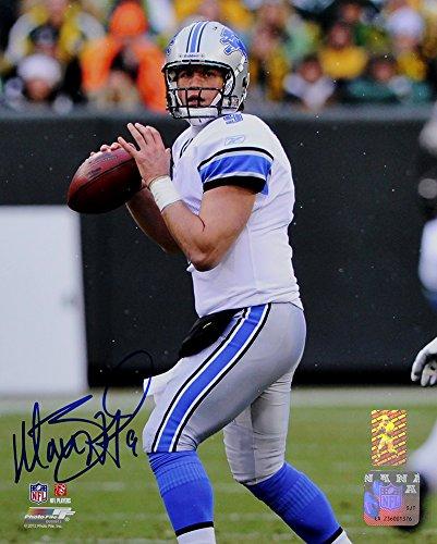 (Matthew Stafford Signed Autographed Detroit Lions 8x10 Photo TRISTAR COA)