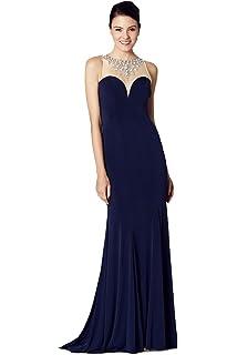 Tiffanys Illusion Prom Naomi Black Jersy Bead Detail Prom Dress