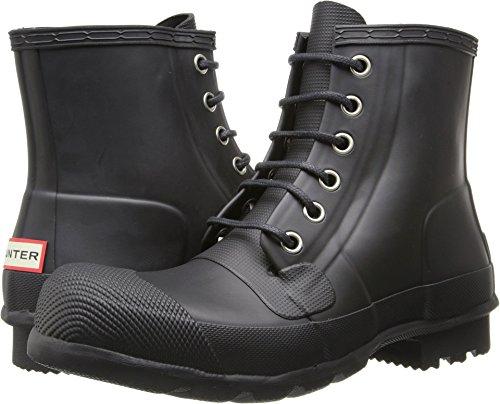 Hunter Men's Original Rubber Lace-Up Black Boot