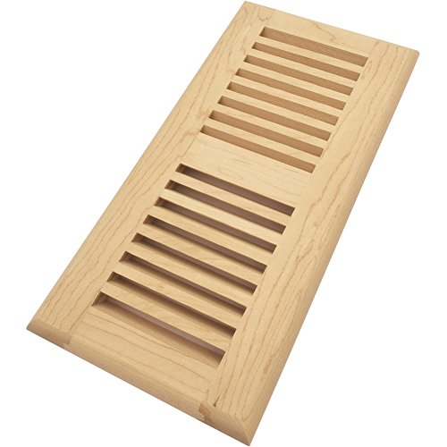 Homewell Maple Wood Floor Register Vent, Drop in Vent, 4x10 inch, Unfinished by Homewell