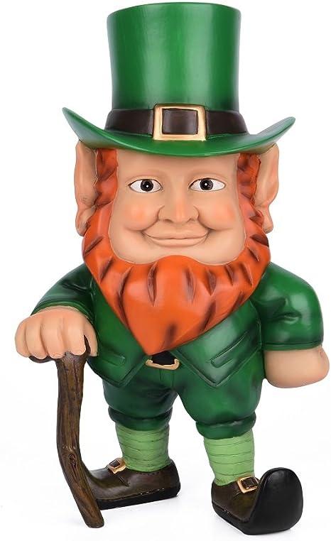 Patricks Day Decor Fun Express Leprechaun Garden Statue St
