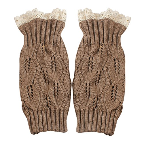 Leg Warmers for Women Cable Knit Crochet Boot Cuffs Lace Knitted Boot Sock Cuffs