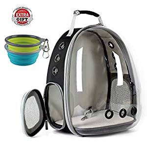 Cat Carrying Carrier Backpack, Space Capsule Bubble Pet Carrier Backpack for Small Dog, Transparent Waterproof Cat Hiking Travelling Backpack, Airline Approved