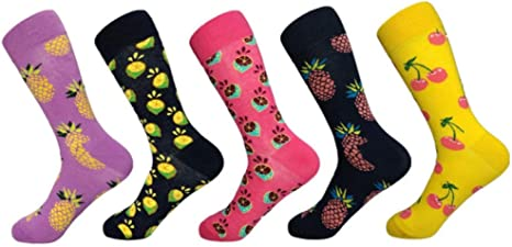Calcetines con Estampado de Frutas Calcetines de algodón Hombres ...