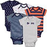 Gerber Baby-Boys Variety Onesies Brand Bodysuits, Sports, Newborn (Pack Of 5)