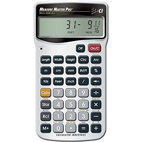 Amazon Calculated Industries 4020 Measure Master Pro