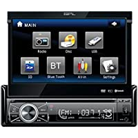 SPL SID-8902 In-Dash 7 DVD/MP3/USB LCD Touchscreen Flip-Up Car Stereo Receiver w/ SD Reader & Audio/Video Outputs