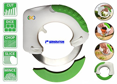 Circular Rolling Knife, Multi Purpose Cutting Tool, Cutting Meat, Salad, Pizza, Vegetable. TQ∞
