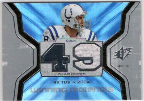 2007 SPx Winning Materials Stat #WMSPM1 Peyton Manning Game-Worn Jersey Card - Indianapolis Colts