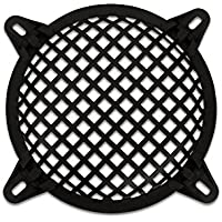 Goldwood Subwoofer Grille and Hardware 6.5 Steel Waffle Speaker Woofer Grill Black (SWG-6C)